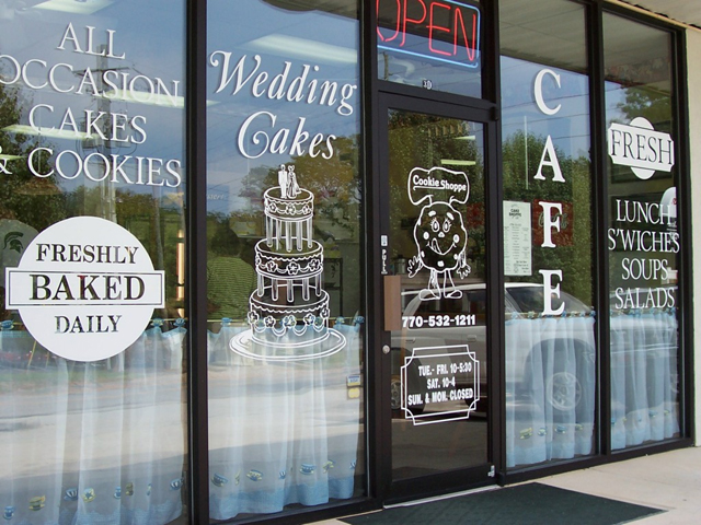 Custom Lettering Professional Graphics Window Lettering